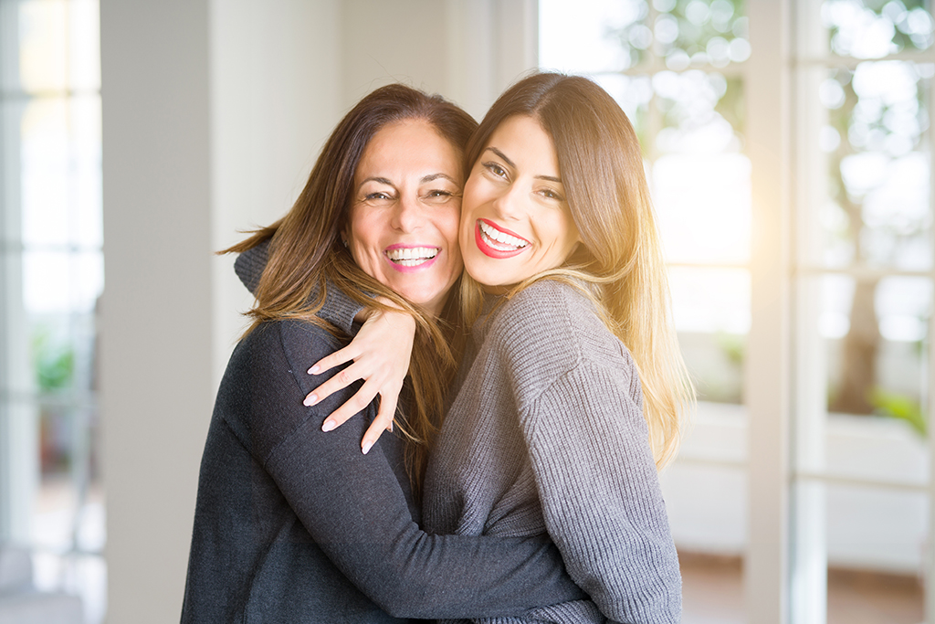 Mother and Daughter with healthy and beautiful skins
